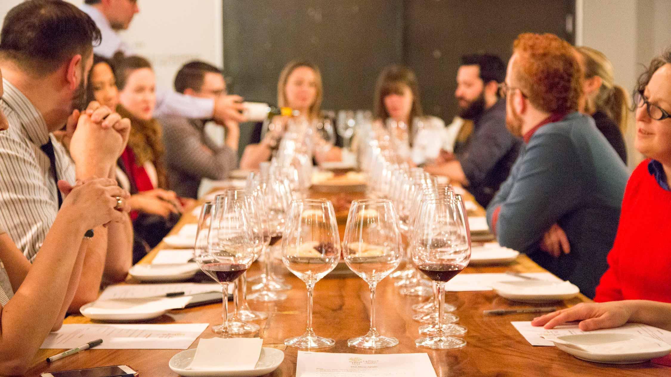 wine class at Mana